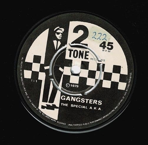 THE SPECIALS (THE SPECIAL AKA) Gangsters Vinyl Record 7 Inch 2 Tone 1979.