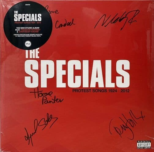 THE SPECIALS (THE SPECIAL AKA) Protest Songs 1942 - 2012 Vinyl Record LP Island 2021 Signed