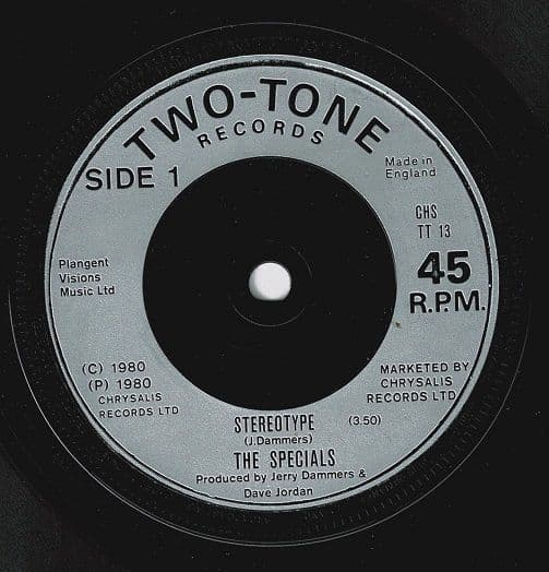 THE SPECIALS (THE SPECIAL AKA) Stereotype Vinyl Record 7 Inch 2 Tone 1980