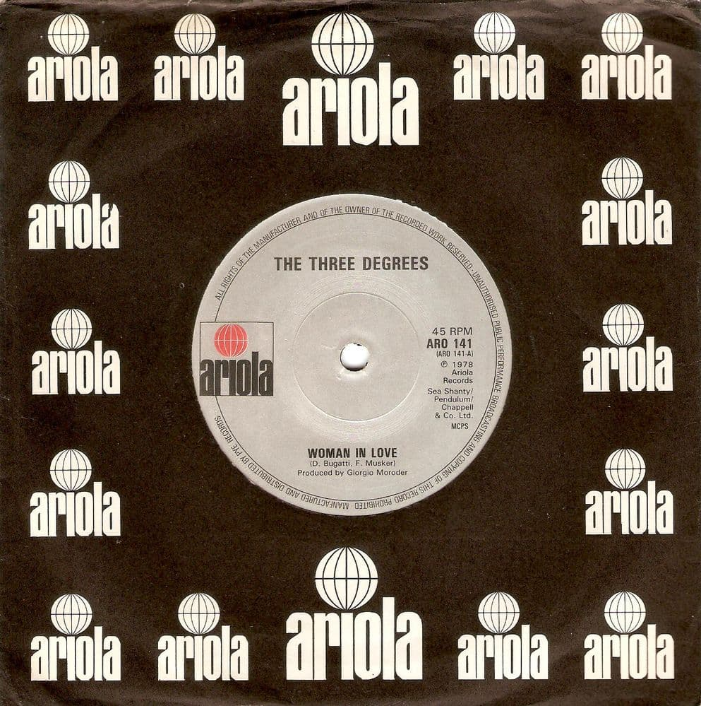THE THREE DEGREES Woman In Love Vinyl Record 7 Inch Ariola 1979