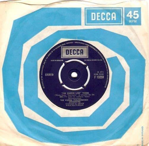 THE VIENNA PHILHARMONIC ORCHESTRA The Onedin Line Theme Vinyl Record 7 Inch Decca 1971