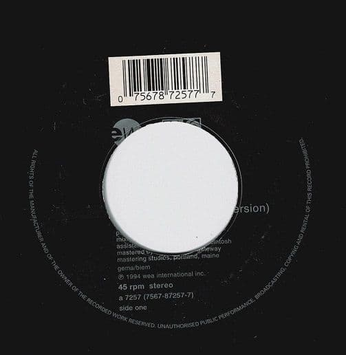 TORI AMOS Past The Mission Vinyl Record 7 Inch East West 1994