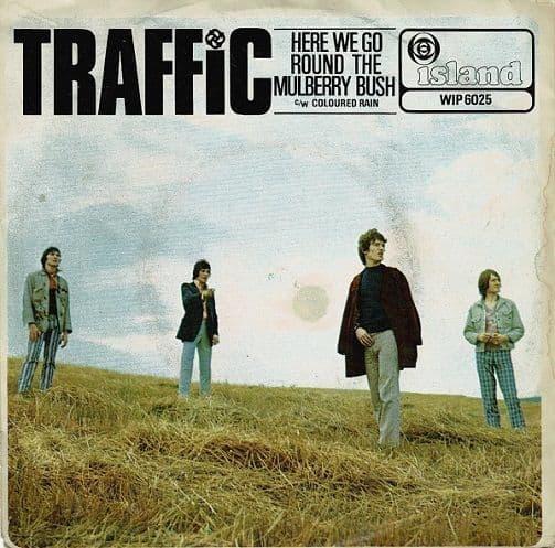 TRAFFIC Here We Go Round The Mulberry Bush Vinyl Record 7 Inch Island 1967.