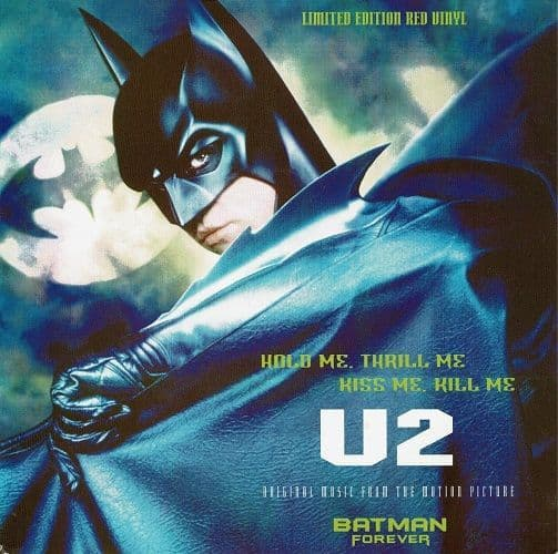 U2 Hold Me, Thrill Me, Kiss Me Vinyl Record 7 Inch Atlantic 1995 Red Vinyl