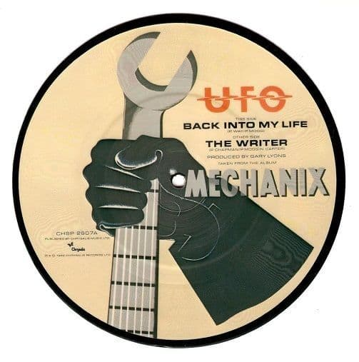 UFO Back Into My Life Vinyl Record 7 Inch Chrysalis 1982 Picture Disc