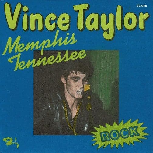 VINCE TAYLOR Memphis Tennessee Vinyl Record 7 Inch French Barclay 1974