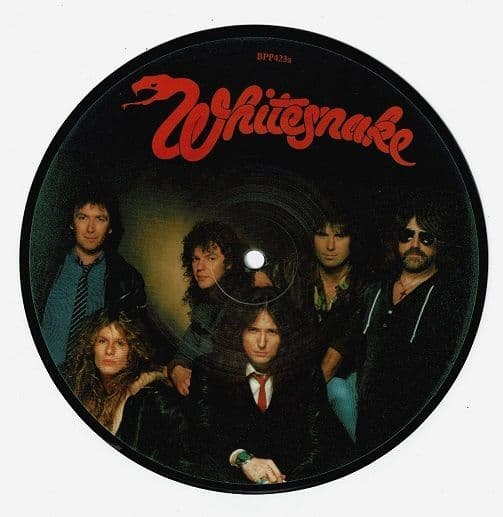 WHITESNAKE Standing In The Shadow Vinyl Record 7 Inch Liberty 1984 Picture Disc