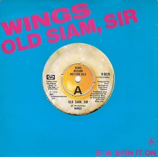 WINGS (PAUL McCARTNEY) Old Siam, Sir Vinyl Record 7 Inch MPL 1979 Demo