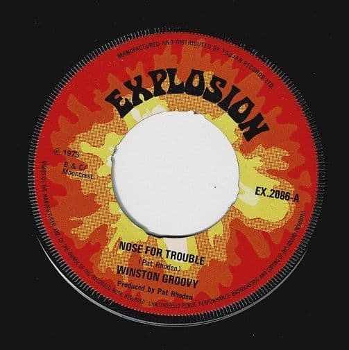 WINSTON GROOVY Nose For Trouble Vinyl Record 7 Inch Explosion 1973