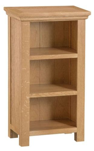 Cornish Oak Low Narrow Bookcase