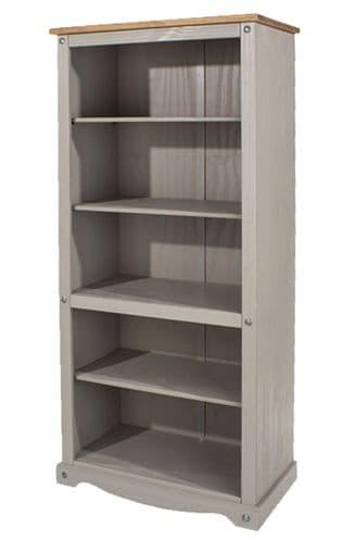 Premium Corona Grey Wash Tall Bookcase