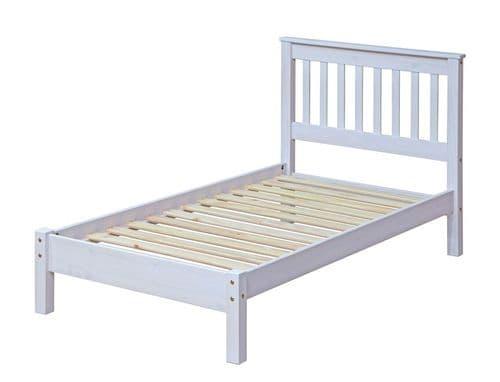 Premium Whitewashed Corona Slatted LFE Bed