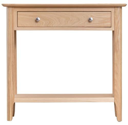 Scandia Light Oak Console Table