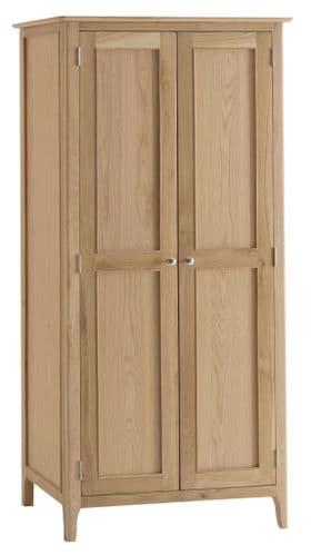 Scandia Light Oak Full Hanging Wardrobe