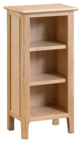 Scandia Light Oak Low Narrow Bookcase