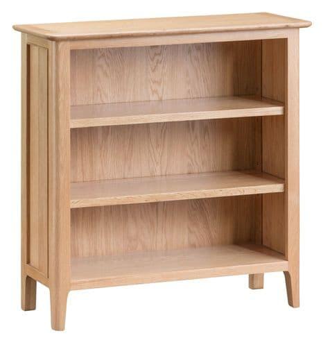 Scandia Light Oak Low Wide Bookcase