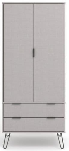 Augusta Grey 2 Door 2 Drawer Wardrobe