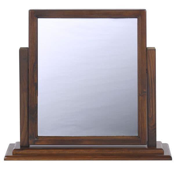 Boston Dressing Table Mirror | Single Mirror | Dark Wood Vanity Mirror