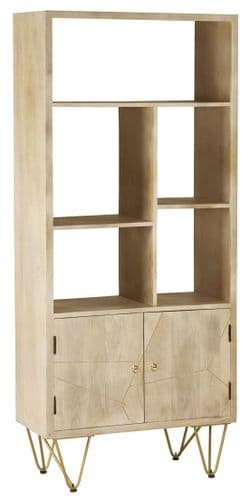 Brecon Light Large 2 Door Bookcase