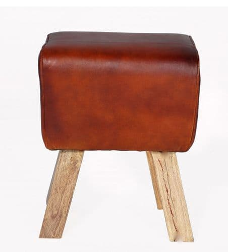 Buck Leather Footstool