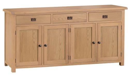 Cornish Oak 4 Door Sideboard