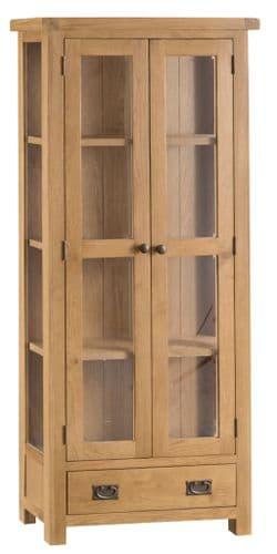 Cornish Oak Display Cabinet
