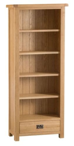 Cornish Oak Medium Bookcase