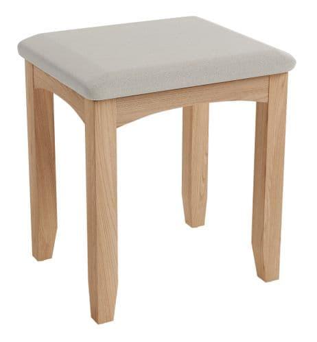 Greenwich Light Oak Dressing Table Stool