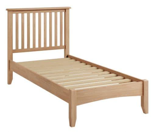 Greenwich Light Oak Low Foot End Bed