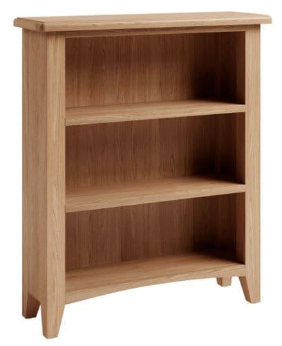 Greenwich Light Oak Low Wide Bookcase