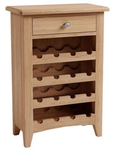 Greenwich Light Oak Wine Cabinet