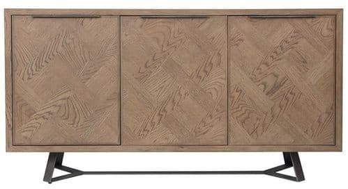 Iberia Grey Oak 3 Door Sideboard