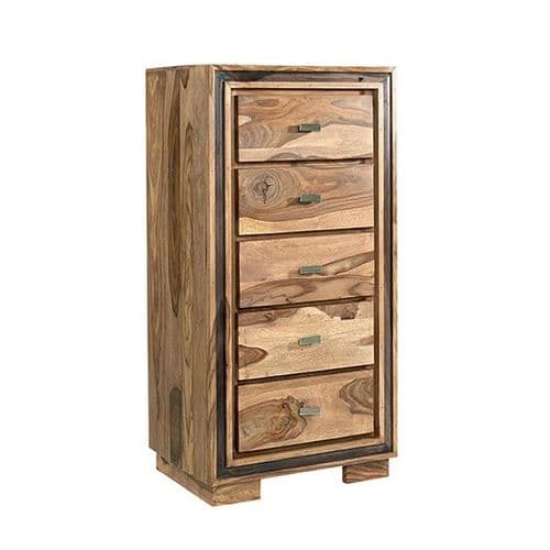 Jaipur Rosewood Tall Chest of Drawers