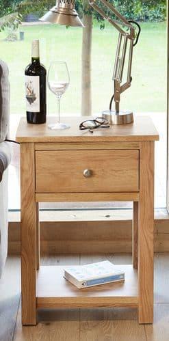 Mobel Oak 1 Drawer Lamp Table
