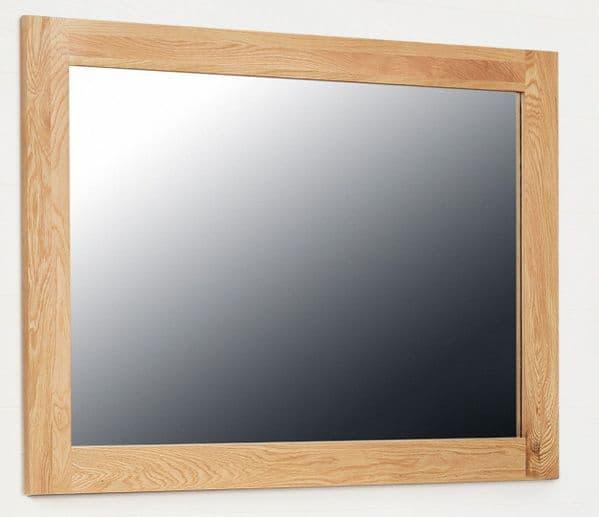 Mobel Oak Wall Mirror   Oak Over Mantle Mirror   Mirror With Wood Frame