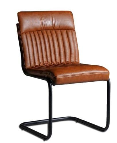 Pair of PU Leather Dining Chairs