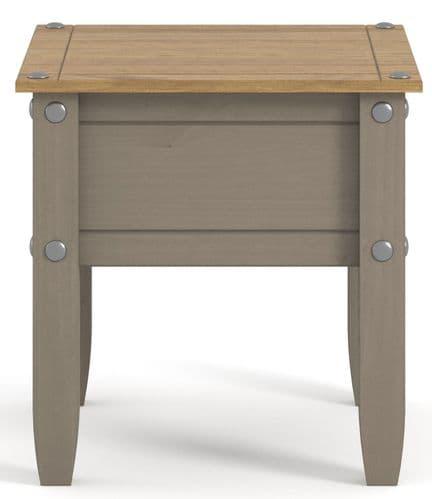 Premium Corona Grey Wash Lamp Table