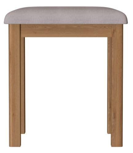Richmond Rustic Oak Dressing Table Stool