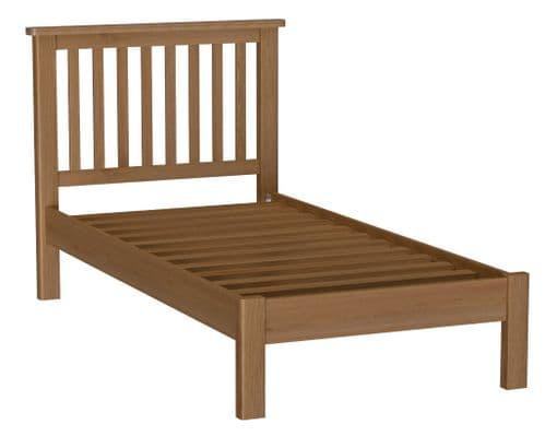 Richmond Rustic Oak Low Foot End Bed