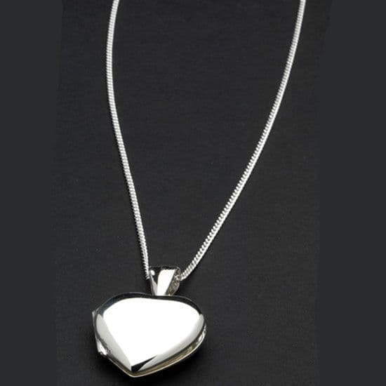 Sterling Silver Heart Locket with Chrome Gift Box