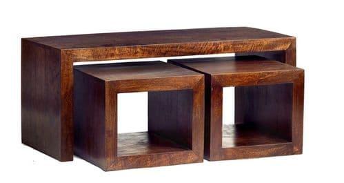 Tokyo Dark Cubed John Long Coffee Table Set