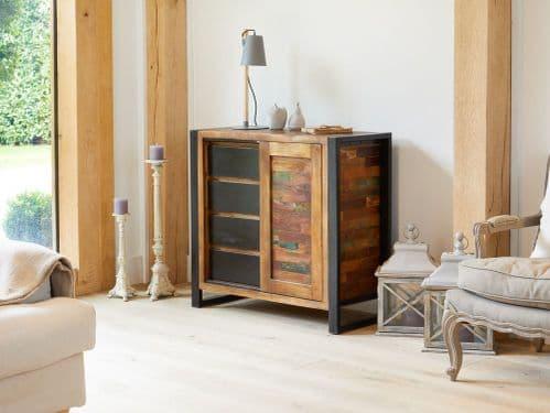 Urban Chic Living Room Storage Cupboard