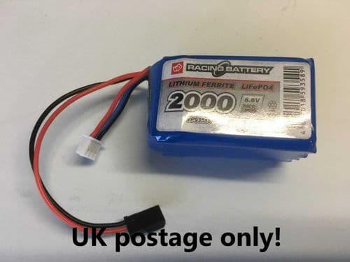 Vapex  LiFe 6.6v 2000mah battery pack