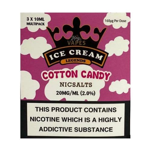 King Of Vapes - Ice Cream Cotton Candy (Floss) 10ml
