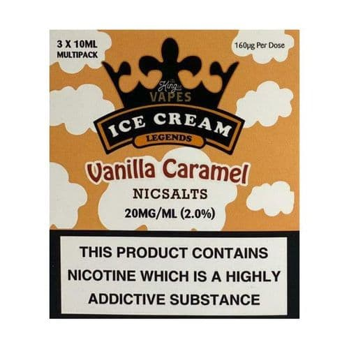 King Of Vapes - Ice Cream Vanilla Caramel 10ml