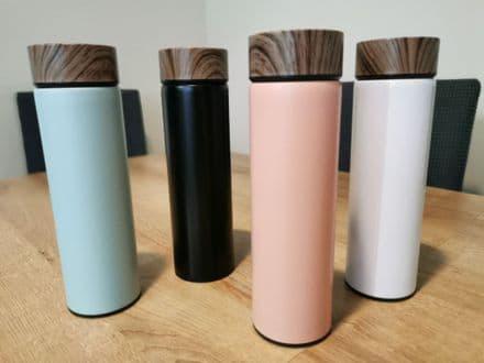 500ml wood grain water bottle