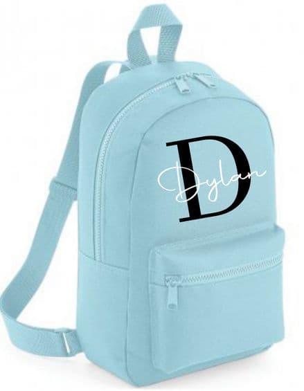 Initial personalised children's bag
