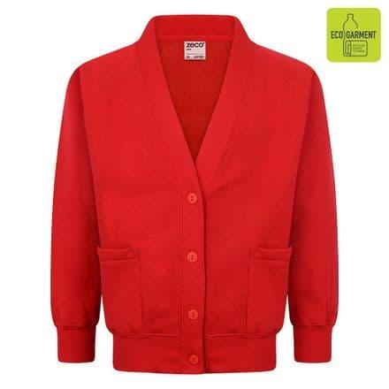 Ysgol Brynsiencyn Cardigan in red