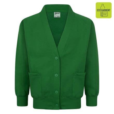 Ysgol Henblas Cardigan in Green