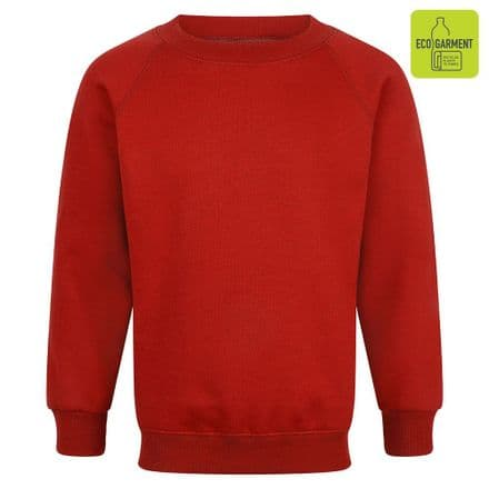 Ysgol Kingsland Sweatshirt in red